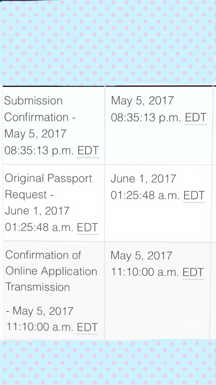 original passport request